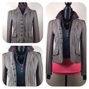 UO Blazer with Sweater Front and Cuffs.